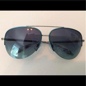 NWOT Ralph Lauren Blue & Silver Aviator Sunglasses